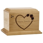Forever Heart Maple Extra Small Urn