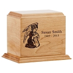 Our Angel Wood Cremation Urn