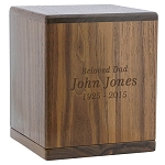 Briton Walnut Cremation Urn
