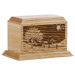 Road Home Oak Keepsake Urn