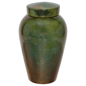 Honey Raku Ceramic Cremation Urn