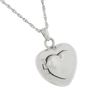 Double Heart Locket Cremation Jewelry