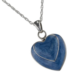 Two Hearts Blue Cremation Jewelry