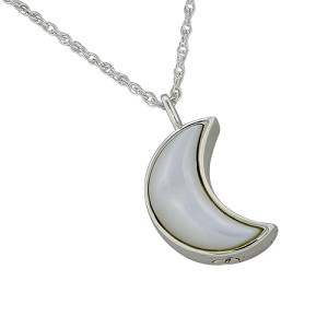 Moon Mother of Pearl Cremation Jewelry