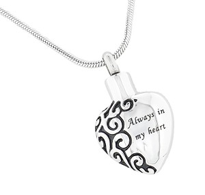 Always in My Heart Cremation Jewelry