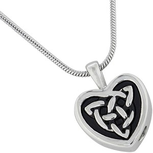 Celtic Heart Cremation Jewelry Pendant
