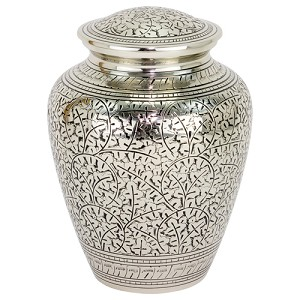Leaves of Silver Brass Urn