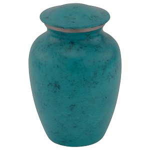 Boulder Blue Cremation Urn - Extra Small