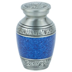 Capital Keepsake Urn - Blue/Pewter
