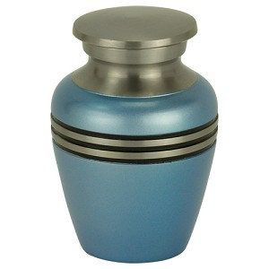 Blue Satin Keepsake Urn