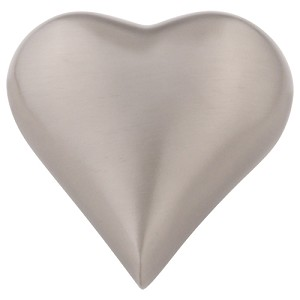 Brushed Pewter Heart Keepsake Urn