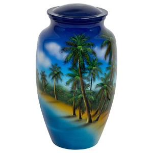 Palm Trees Cremation Urn