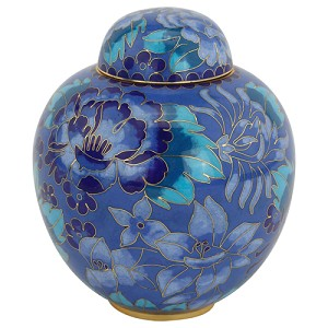 Azure Blue Cloisonne Urn - Extra Small