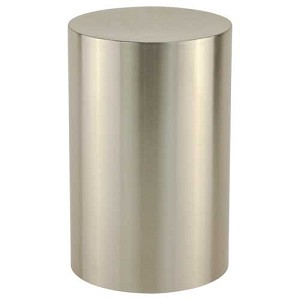 Stainless Steel Silver Cylinder Urn