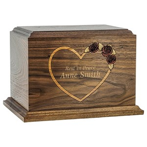 Forever Heart Wood Cremation Urn
