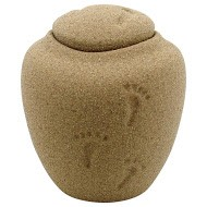 Oceane Sand Footprints Urn Extra Small