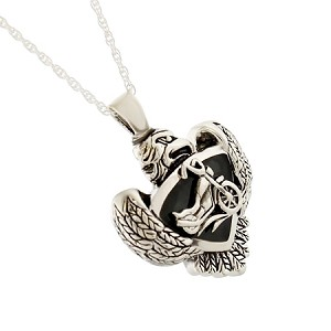 Eagle and Motorcycle Cremation Jewelry