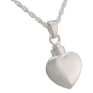 Small Heart Cremation Jewelry