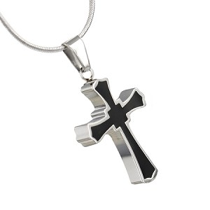 Gothic Cross Cremation Jewelry