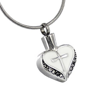 Cross My Heart Cremation Jewelry