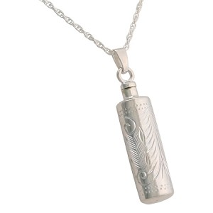 Etched Cylinder Cremation Jewelry