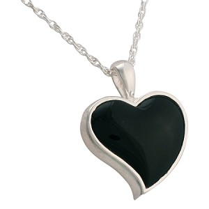 Heart Onyx Cremation Jewelry