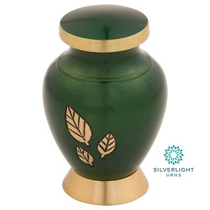 Strong Tree Brass Keepsake Urn