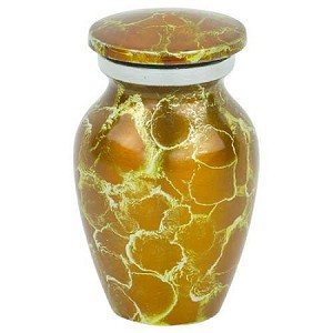 Amber Crystal Keepsake Urn