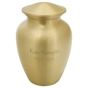 Classic Gold Brass Urn - Extra Small