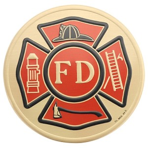 "4"" Fire Department Medallion"